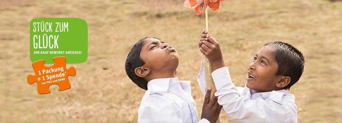 """Mit dem """"Stück zum Glück"""" von Procter & Gamble helfen"""